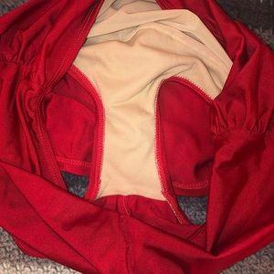 Modcloth Swim - ModCloth Red Swimsuit High Waisted Bikini EUC